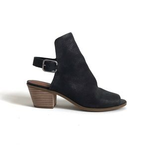 Lucky Brand Bray Leather Peep Toe Sandals